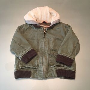 Baby Gap Faux-Layered Hooded Canvas Jacket